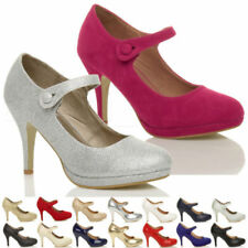 Mary Janes Slim High (3 to 4 1/4) Heel Height Heels for Women
