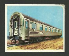 Second Class Sleeper Car Train Vintage Transportation Card Spain #115