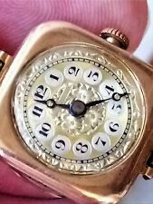 VERY RARE 1922 VINTAGE ROLEX ROLWATCO 9 CT SOLID GOLD WINDING WRIST WATCH