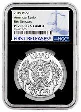 2019 P American Legion 100th Silver Dollar Ngc Pf70 Uc Fr Black Presale Sku57422