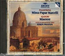 Palestrina: Missa Papae Marcelli; Allegri: Miserere / Preston - CD