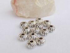 Lot 10 Perles intercalaires Fleur 8 mm - perles en argent tibétain