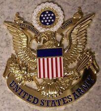 Military Plaque U S Army metal NEW wall or shadow box mount