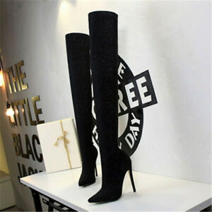 Women's Autumn and Winter 2020 Top Hot  Sexy nightclub Thigh High-Heeled Boots