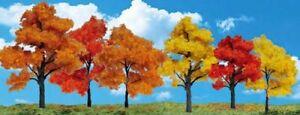 "NEW Woodland Harvest Blaze Trees 1 1/4"" - 3"" Train Scenery N/HO TR3540"