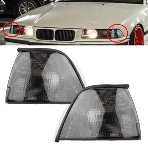 2x Smoke Corner Light Turn Signal For BMW 318i 318ti 325i 328i M3 E36 1992-1998