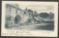 Postcard Skirling nr Biggar Scotland houses in village 1903