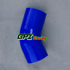 """Silicone Joiner 45 Degree Bend Elbow Radiator Hose 102mm 4"""" 4 inch Silicon Pipe"""