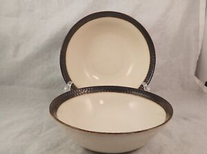 Set of 2 Crate and Barrel Scavo Cereal Bowls