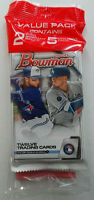 2020 Bowman Baseball Sealed Cello Value Hanger Pack Exclusive Camo Parallels
