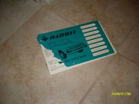 1978 79 Volkswagen VW Rabbit Owners Manual Owner's Guide Book OEM Original