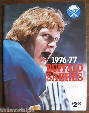 1976-1977 Buffalo Sabres Yearbook - Gil Perreault, Gerry Desjardins, etc.