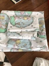 Precious Moments Twin Sheet Set Flat and Fitted Girl with Goose 2 Sets Vintage