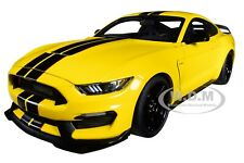 FORD MUSTANG SHELBY GT-350R TRIPLE YELLOW 1/18 MODEL CAR BY AUTOART 72932