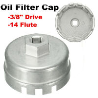 14 Flutes Oil Filter Wrench Cap Housing Tool Remover for Toyota Rav4 Lexus Prius