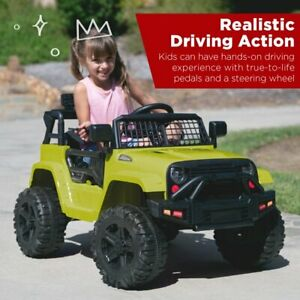 Best Choice Products SKY5506 12V Kids Ride on Truck Car - Green