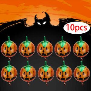"10pcs Balloons 18"" Pumpkin Foil Balloons Home Party Hanging Decoration Prop"