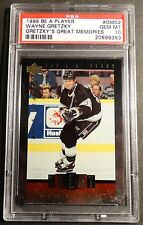 1995 BE A PLAYER WAYNE GRETZKY GREAT MEMORIES #GM02 PSA 10  KINGS  POP 2   (922)