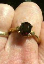 Rare Spessartite Garnet & White Topaz Ring 💍9k Gold. Perfect Engagement Ring ❤️