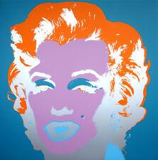 ANDY WARHOL Pop Art - Sunday B Morning - Marilyn Monroe 11.29 Screen print + COA