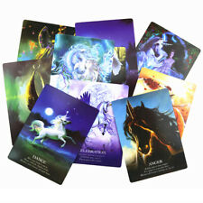 44pcs Unicorn Oracle Cards Deck Mysterious Tarot Cards Divination Board Game