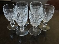 """*VINTAGE* Waterford Crystal COLLEEN (1953-) Set 6 Sherry Wine Glass 4 1/4""""  2 oz"""