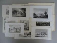 15 Grafiken - Polen Architektur Warschau - 11 Stahlstiche 4 Holzstiche - 1840