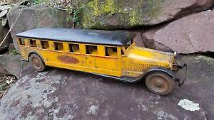 """RARE 1928 Dayton Friction Toy Co. AMERICAN De LUXE BUS Original 26"""""""