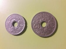 pièces 25 et 10 centimes  1928 et 1923 Poissy