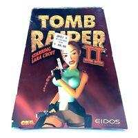 Tomb Raider II Starring Lara Croft EIDOS PC CD Big Box Trapezoid Triangle