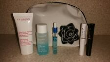 NEW Set Lot Of 5 CLARINS + LANCOME Products Travel Size Samples Cosmetic Bag