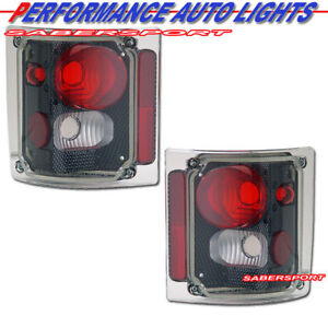 Set of Carbon Style Taillights for 1973-1987 GMC Chevy C/K C10 Full Size Truck