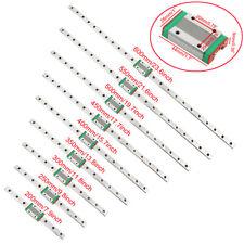MGN12H Mini guida lineare per guida lineare 100//150//200//250//300//350 mm con blocco di trasporto MGN12H per stampante 3D fai da te e macchina CNC