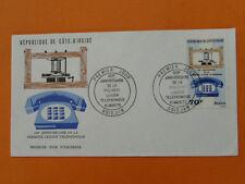 telephone centenary FDC Ivory Coast 38709