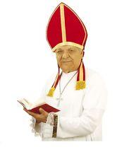 CAPPELLO MITRA Carnevale Accessori Prete Papa Cardinale Vescovo Prelato 8521P