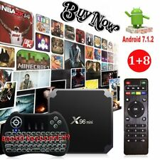 Android 7.1.2 Nougat 4K Quad Core Smart S905W Backlit Keyboard H9 TV BOX MINI PC