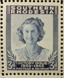 SOUTHERN RHODESIA 1947 SG66 KGVI 3d. BLUE -  MNH
