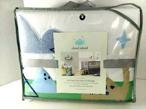 Cloud Island Dino Dreams Nursery Crib Set ~ 4 pc dinosaurs boys nursery new Baby