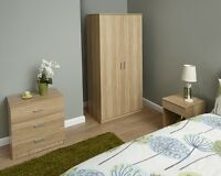 Modern Bedroom Furniture Set Wardrobe Drawer Chest Bedside Table