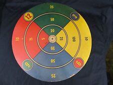 "Vintage 1955 Transogram Spin Wheel Dart Board Target Game Room Wall Decor 23.5"""