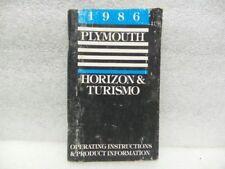 HORIZON   1986 Owners Manual 16586