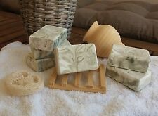 100% olive oil soap - organic aloe vera, green clay &mastic oil - Hypoallergenic