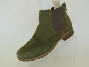 SOFFT Green Suede Chelsea Ankle Fashion Boots Bootie Size 9.5 M