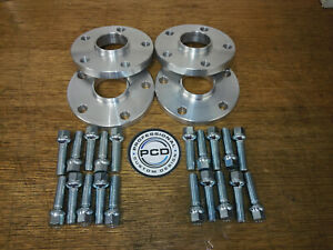 VW AUDI 5x112 57.1 15mm & 20mm Hubcentric Wheel Spacers & 20 Radius Wheel bolts