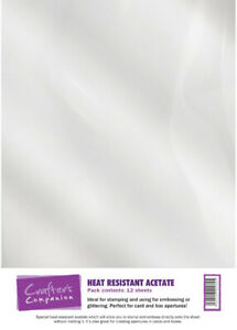 Crafter's Companion A4 Heat Resistance Acetate 12 Sheets For Heat Embossing