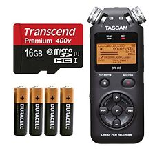 Tascam DR-05 (Version 2) Portable Handheld Digital Audio Recorder (Black) wit...