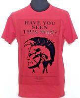 DIESEL T-JOE Herren T-Shirt rot red rosso schwarz Mohikaner Kopf NEU Etikett!