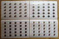 25 x Berlin 789 - 792 Bogen Satz postfrisch Schmiedekunst 1987 Michel 162,50 €