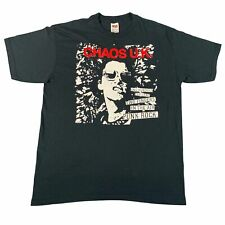 "Vintage Chaos UK ""One Hundred Percent"" T-Shirt Sz L Discharge Exploited Amebix"