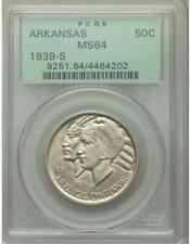 1939-S Arkansas Commemorative Silver Half Dollar - PCGS MS-64 -Mint State 64